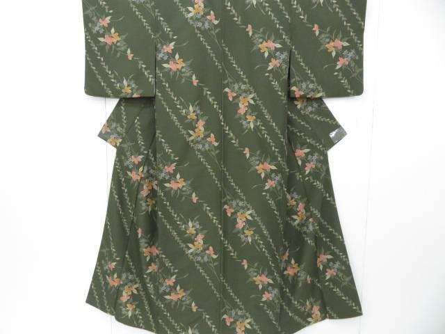 スーパーセール50%OFF IDnet 小紋 木の葉に桜繋ぎ文 リサイクル 着 年間定番 着物 [再販ご予約限定送料無料] 中古