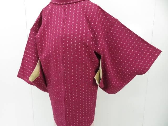 アイディーネットのリサイクル アンティーク着物 茶道具 IDnet 羽織 リサイクル お得 スピード対応 全国送料無料 中古 着 絞り 麻の葉地紋に霰柄