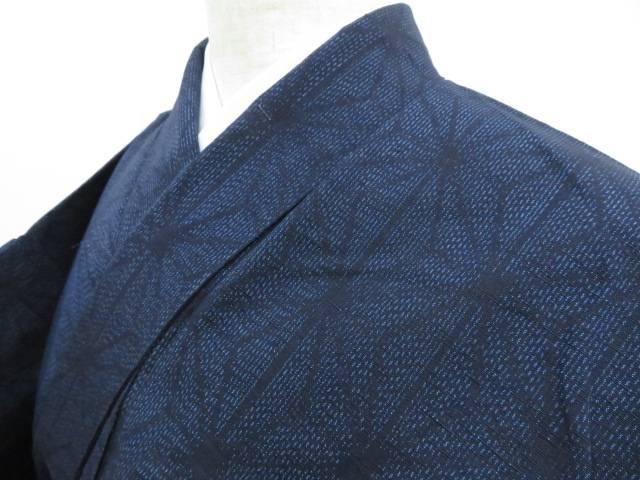 超人気 アイディーネットのリサイクル セール特価 アンティーク着物 茶道具 IDnet 未使用品 麻の葉文 着物 リサイクル 着 紬