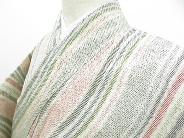 アイディーネットのリサイクル アンティーク着物 茶道具 IDnet 塩沢紬 中古 着 通販 曲線文 リサイクル 着物 10%OFF