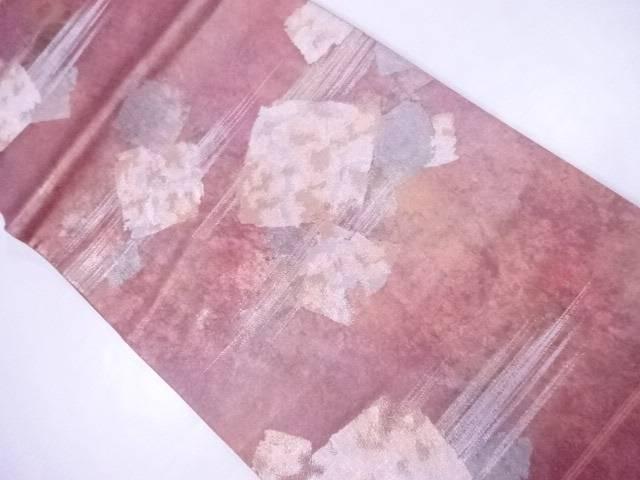 アイディーネットのリサイクル アンティーク着物 茶道具 新商品 ◆高品質 新型 IDnet 袋帯 リサイクル 中古 霞に破れ箔散らし文 着