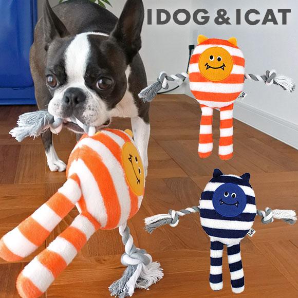 犬のおもちゃ ラッピング無料 iDog しましま模様のデーモン型TOY 愛らしい表情がポイント 犬 おもちゃ しましまロープデーモン 鳴き笛入り あす楽 翌日配送 布製 小型犬 ドッグトイ 音 犬用 i ぬいぐるみ 超小型犬 dog 笛入り 玩具 定価の67%OFF