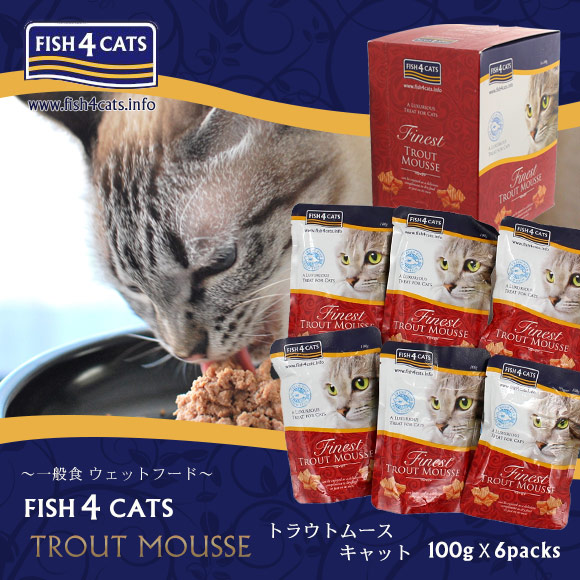 Idog And Icat Fish4cats Fish 4 Kyats Trout Mousse Cat 100 G 6 Bulk