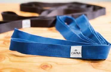 予約販売 低価格化 体格や柔軟性を問わず手軽にストレッチができる CIANA ブルー ストレッチストラップ
