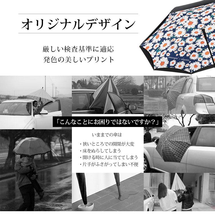 傘 逆さ傘 レディース メンズ ワンタッチ 1秒オープン 晴雨兼用  UVカット 紫外線対策 遮光  長傘 雨傘 日傘 自立する傘 UV UPF50 バースデー  生日 母の日 ギフト プレゼント