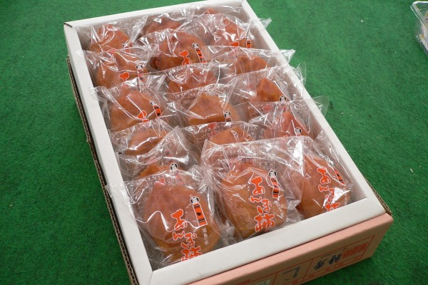 【福島産 あんぽ柿 (蜂屋柿)約1kg (9~18コ)化粧箱詰×2箱】