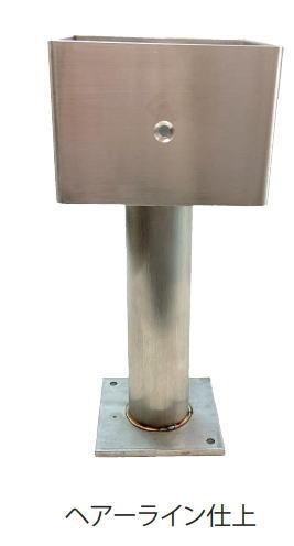 ショッピング ステンレス柱受金物 角75mm 予約 SUS304 パイプ径38mm
