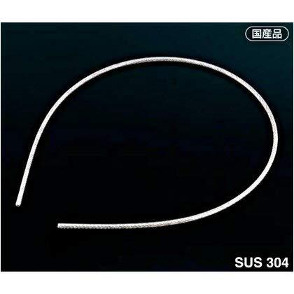 アイオウル ふじわら HS-3051 被覆ワイヤロープ 被膜:クリア透明ワイヤ構成:7×7 長さ:100m