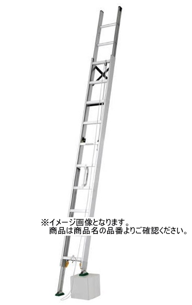 有名なブランド 【配送条件あり】:家づくりと工具のお店 家ファン! アルインコ 伸縮脚付2連はしご MDE-91D-DIY・工具