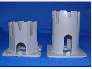メッシュ用サイコロ PPサイコロ H50~60 200個入 ワイヤーメッシュ用スペーサー