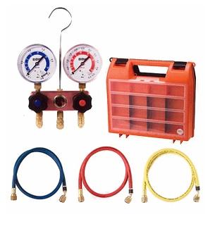 文化貿易工業 BBK 1410-CMK-60 203-1102 R-410A/R-32対応 ベーシックキット(ダイヤフラム式) チャージングホース150cm仕様