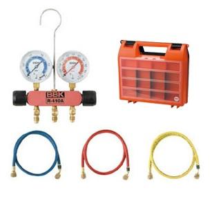 文化貿易工業 BBK 410-PMK-60 203-1253 R-410A/R-32対応 ベーシックキット(ニードル式) チャージングホース150cm仕様