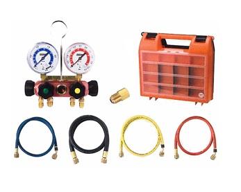 文化貿易工業 BBK 4410-CMK-60 203-1223 R-410A/R-32対応 4バルブゲージマニホールド ベーシックキット(ダイヤフラム式)