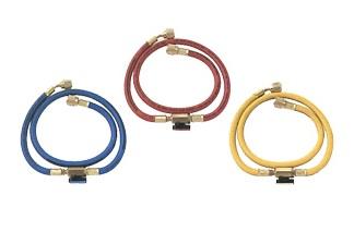 文化貿易工業 BBK HP3JL 204-1009 R-410A関連アクセサリー インラインバルブホース 90cmセット 青・赤・黄の3本セット