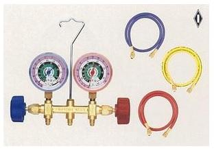 文化貿易工業 BBK 496-CM 201-0004 R-22 マニホールドキット 90cmチャージングホース仕様(ケース無)