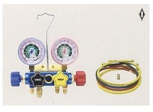 文化貿易工業 BBK 523-CM 201-0205 R-22 4バルブマニホールドキット 90cmチャージングホース仕様(ケース無)
