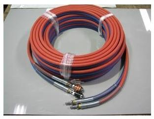 文化貿易工業 BBK C16 303-0619 酸素 アセチレン用ツインホース カプラー式 G型ホース(カプラー式) 10m