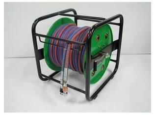 文化貿易工業 BBK C14 303-0629 SDGリール巻きツインホース カプラー式 リール巻ホース SDG30R(30m)