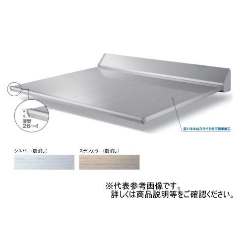 ダイケン 庇(ひさし) 送料無料 DAIKEN RSバイザー RS-S型 D1000×W2400 ステンカラー (ステー無)