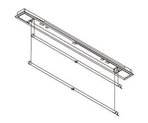 大建プラスチックス DK-RM1200UWP 室内用物干 (埋込型) ダブルポール ※受注生産 DaikenPlastics