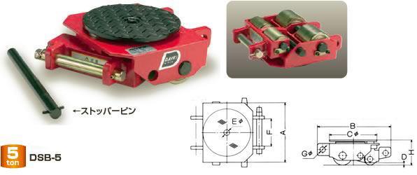 【ダイキ DAIKI】 スピードローラー 標準タイプ DSB-5 ボギー型 能力5t