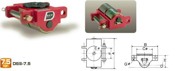【ダイキ DAIKI】 スピードローラー 標準タイプ DSS-7.5 シングル型 能力7.5t