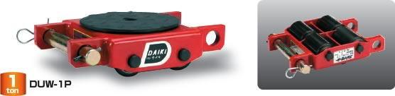 【ダイキ DAIKI】 スピードローラー 低床タイプ DUW-1P ダブル型4ローラー 能力1t