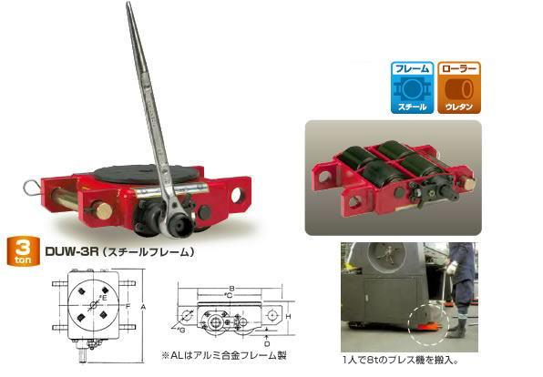 【ダイキ DAIKI】 スピードローラー 自走タイプ DUW-3R スチールフレーム 能力3t