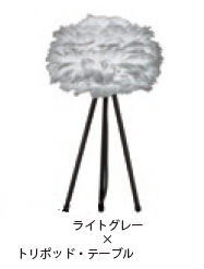 ELUX エルックス 03013-TT-WH ヴィータ イオス ミニ ライトグレー トリポッド・テーブル(スタンド色:ホワイト)(電球別売)