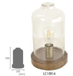 ELUX エルックス LC10914 ル チェルカ タント テーブルライト (GK6AGY00NN) LEDレトロエジソン球付き