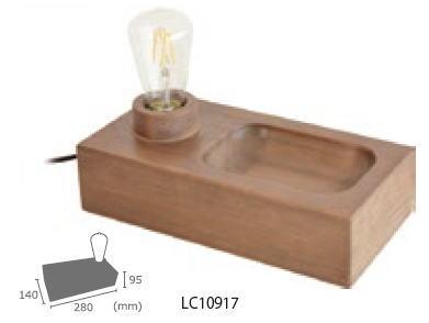 ELUX エルックス LC10917 ル チェルカ パレ テーブルライト (WT07GY00) LEDレトロエジソン球付き