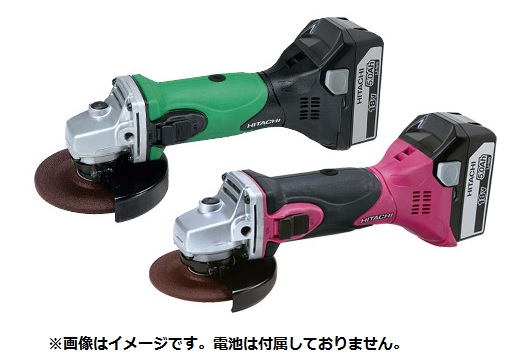 【日立工機 HITACHI】 コードレスディスクグラインダ G18DSL (NN) グリーン 18V 電池・充電器・ケース別売