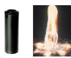 グローベン C40TB151 1インチ噴水ノズル フォーミング 50φ×H160 ※樹脂製黒