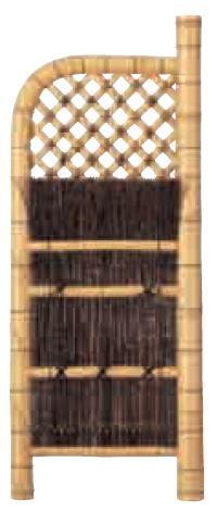 グローベン A17FC307 本竹白玉袖垣(黒枝) W600 H1700
