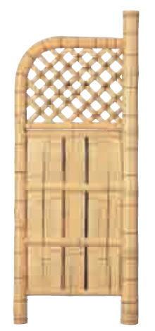 グローベン A17FC308 本竹白玉袖垣(ヒシギ) W600 H1700