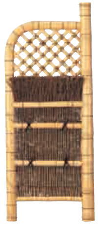 グローベン A17FC309 本竹白玉袖垣(孟宗竹枝) W600 H1700