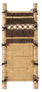 グローベン A17FC413 本竹平割袖垣(白) W600 H1700
