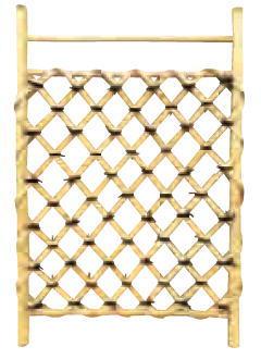 グローベン A17FC417 白竹枝折戸(肘坪・あおり止付) W600 H1000