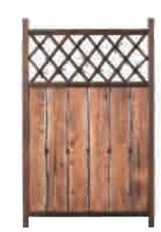 グローベン A17FF440 板貼格子枝折戸 W750 H1200 (肘坪・あおり止付)