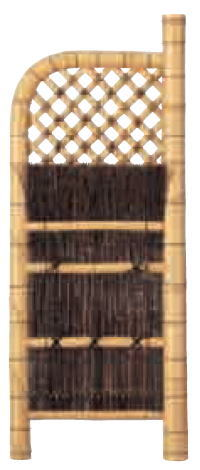 グローベン A17FH307 本竹白玉袖垣(黒枝) W900 H1750