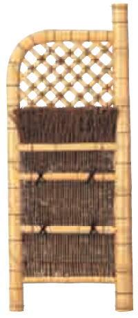 グローベン A17FH309 本竹白玉袖垣(孟宗竹枝) W900 H1750