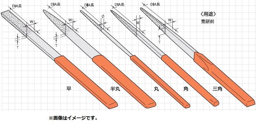 呉英製作所 127 ダイヤモンドヤスリ 粒度140 5種類セット