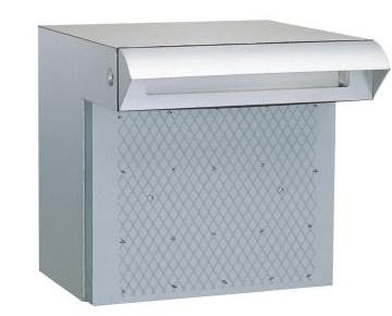ハッピー金属 ファミール 676 戸建用 ステンレスポスト ポスト口・受箱一体型タイプ