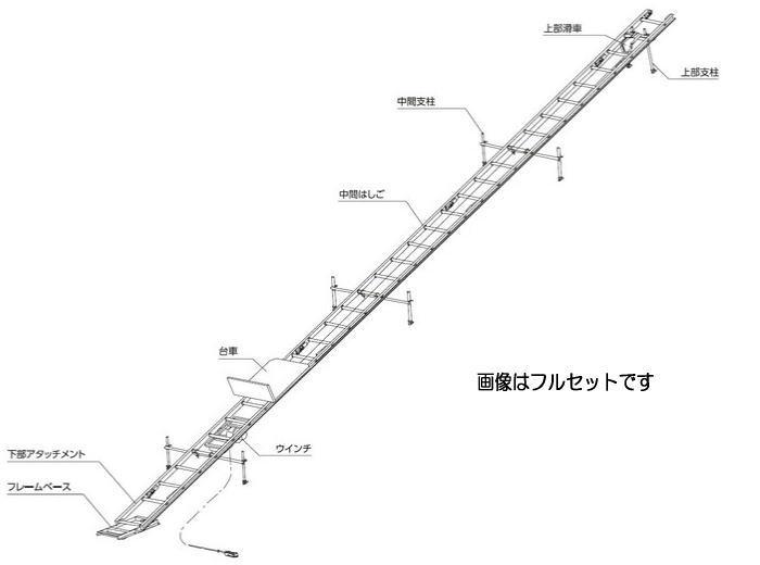 「個人宅不可」長谷川工業 台車 法面用簡易リフト (ハセガワ)