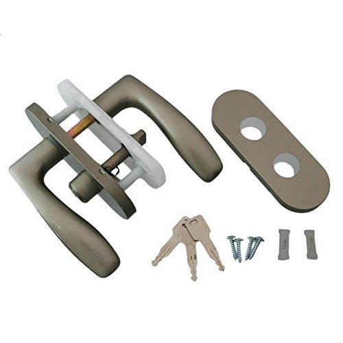 各社対応レバー 室内錠 鍵付間仕切錠 シルバー 38D1-ML-SL ハイロジック