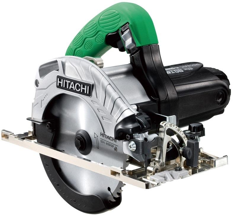 【日立工機 HITACHI】 深切り丸のこ C5MBYA (SG) のこ刃径157mm フッ素ベース仕様 LEDライト・スーパーチップソー(ブラック)付