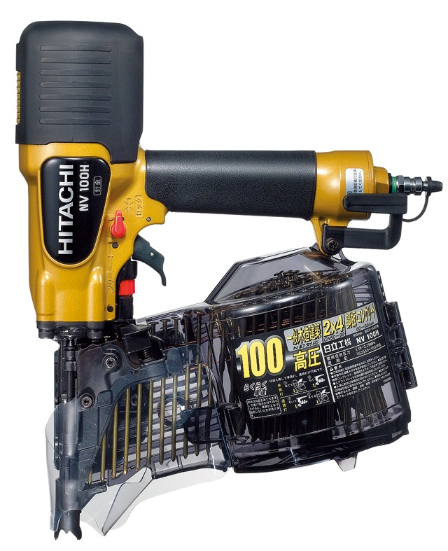 HiKOKI(旧日立工機) 高圧ロール釘打機 品確法・2×4対応 NV100H ケース付