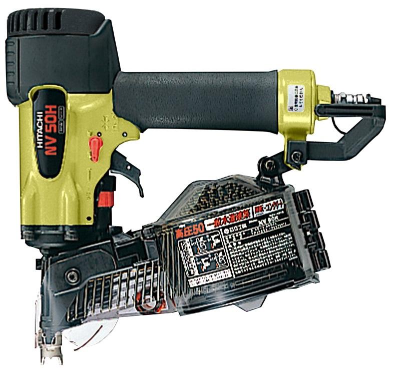 「送料無料」「日立工機正規販売店」 日立工機 NV50H HiKOKI(旧日立工機) 高圧ロール釘打機 NV50H ケース付