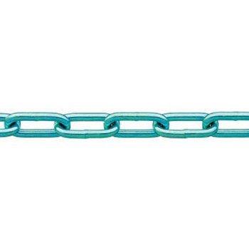 ニッサチェイン 鉄ユニクロ溶接リンクチェイン 6.5mmX30M IW2065 4968462159796