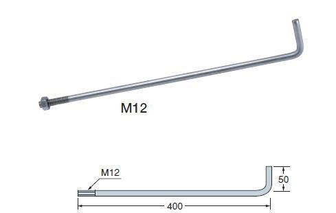 タナカ ステンレス アンカーボルト M12×400 AB2401(50入1ケース)